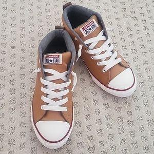 Converse Allstar Chuck Taylor orange leather